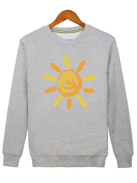Sweat-shirt Imprimé Soleil Cartoon - Gris M Mobile