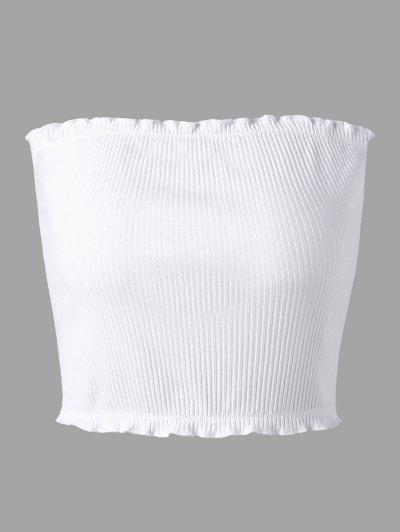 Flounced Ribbed Tube Top - from $8.53