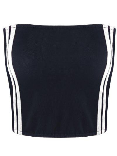 Cropped Striped Tube Top