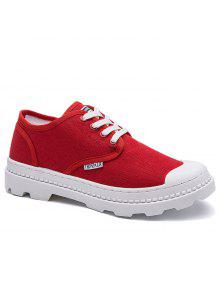قماش إلكتروني أحذية تزلج - أحمر 42