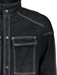 De Bot Denim Costura 243;n Coat Abajo Negro Xl adqqx7