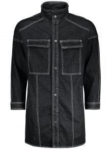Manteau à Coudre Manteau Denim - Noir M