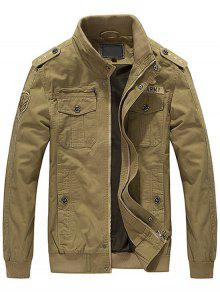 3xl Caqui Parches Chaqueta Para De Hombres Bordada qFwxzv7BY
