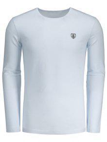Slim Fit Camiseta De Manga Comprida - Branco L