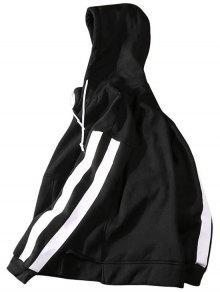 95a8c73bd 29% OFF] 2019 Fleece Sides Striped Mens Hoodie Men Clothes In BLACK ...