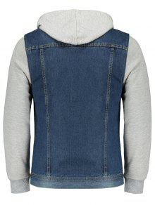 Denim 4xl Capucha Jacket Jersey Azul Con 1xqvzwf8
