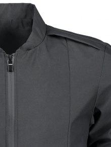 4xl Zip Collar Stand Negro Jacket Fly 64SnnvgwH