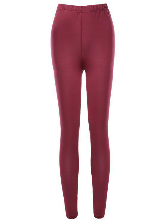 Leggings ajustados a cintura alta - Rojo XL