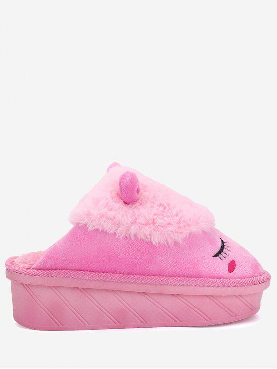 Color Block Emoji Indoor Slippers - Papaye Taille(35-36)