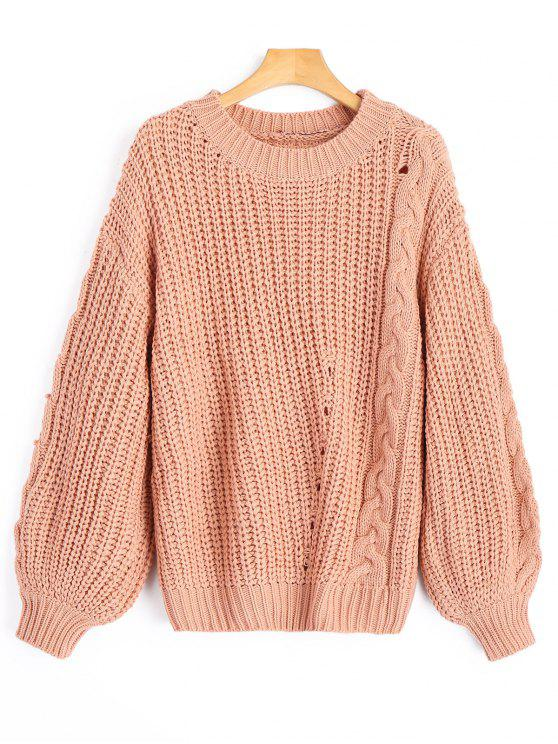 Cable Knit Chunky Sweater CAMEO: Sweaters ONE SIZE | ZAFUL