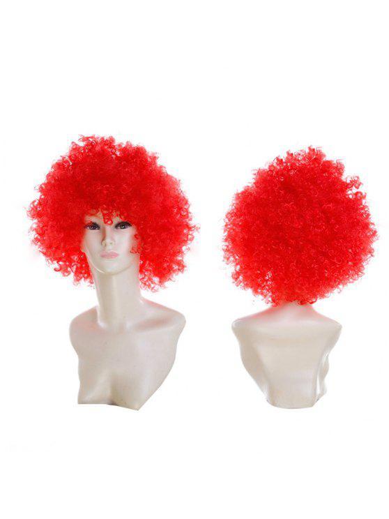 للنساء شعر مستعار مجعد قصير - أحمر