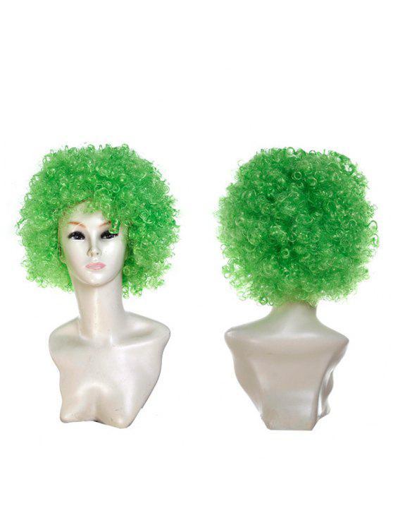 للنساء شعر مستعار مجعد قصير - أخضر