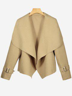 Shawl Collar Open Front Jacket - Camel L