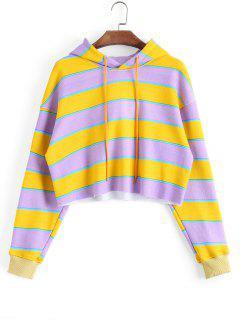Cropped Loose Stripes Hoodie - Stripe M
