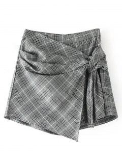Knot Checked Skorts - Checked L