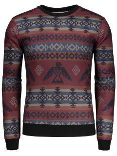 Geometric Pattern Long Sleeve T-shirt - 2xl