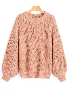 Cable Knit Chunky Sweater - Cameo