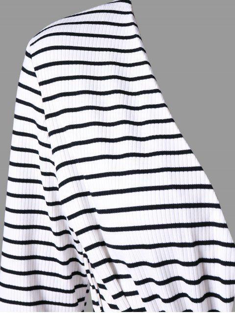 Combishort Rayé à Manches Longues - Blanc et Noir XL Mobile
