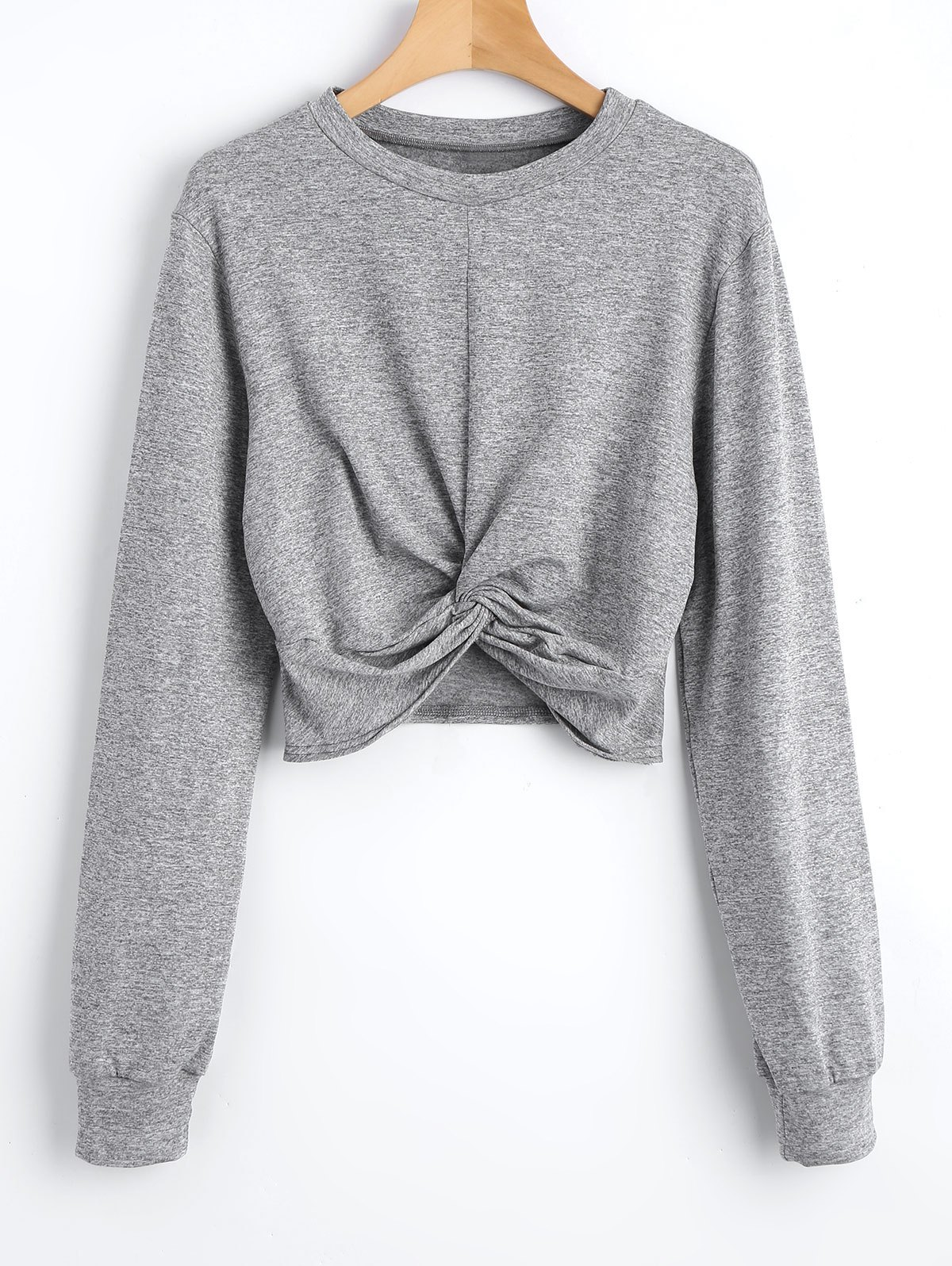 Heathered Cropped Twis