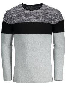 Blusa De Color Slim Fit Camiseta - Gris Xl