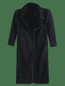 Missguided Wool With Big Fur Collar Coat BLACK: Jackets & Coats S ...