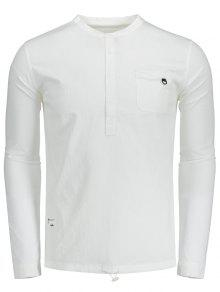 De Del Camisa Letra Blanco La 3xl 243;n Bot Medio PqRZwdORS