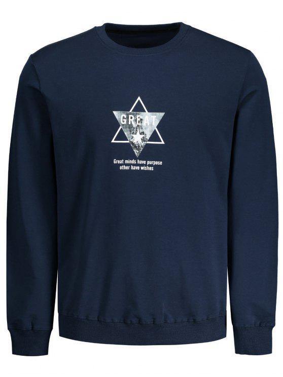 Dreieck-Grafik Großes Sweatshirt - Dunkelblau L