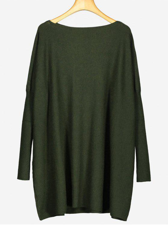 Oversized Plain Longline Sweater ARMY GREEN: Sweaters ONE SIZE | ZAFUL