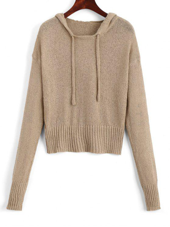 Drawstring Hooded Pullover Sweater KHAKI: Sweaters ONE SIZE | ZAFUL