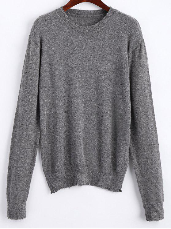Pull Usé Stretch - gris S