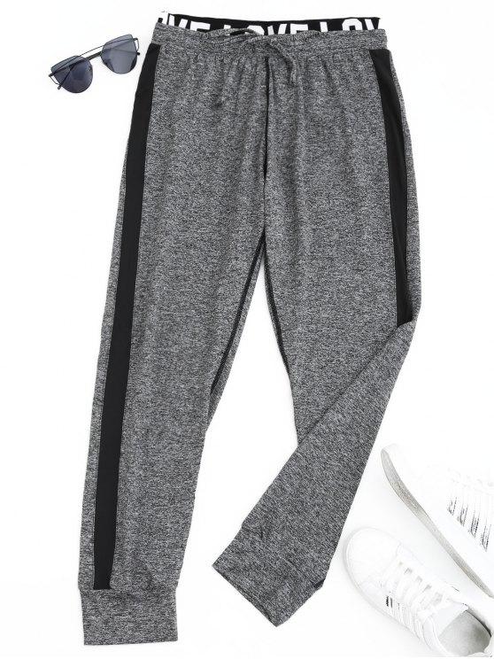 Pantalones deportivos Heathered Letter Jogger - Gris XL