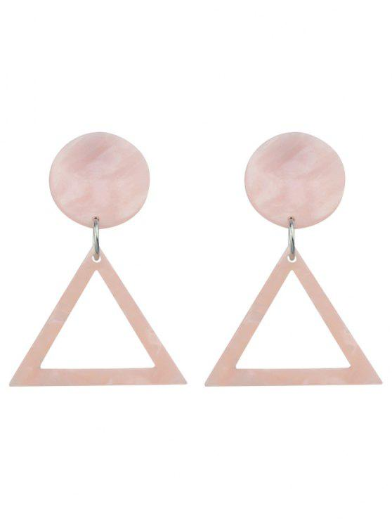 new Alloy Geometric Hollow Out Stud Earrings - PINK