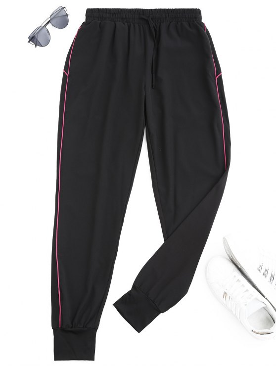 unique Drawstring Sports Jogger Pants - TUTTI FRUTTI XL