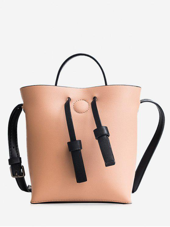 Bucket Crossbody Bag et Zip Clutch Bag - ROSE PÂLE