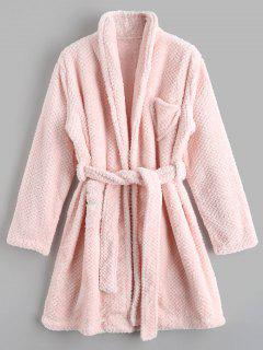 Loungewear Flannel Night Robe - Pink L