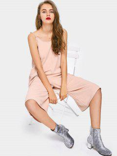 Cami Capri Wide Leg Jumpsuit - Pink S