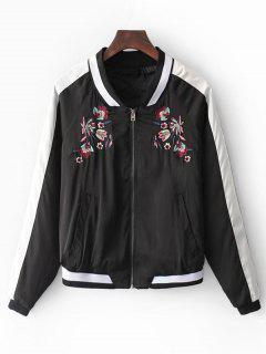Color Block Souvenir Jacket - Black S