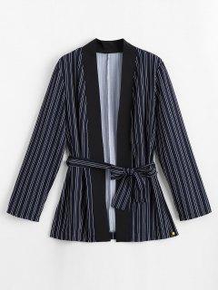Blouse Au Kimono Rayé à Rayures - Rayure S
