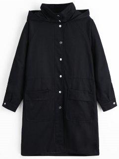 Manteau à Capuchon à Capuchon Avec Poches - Noir S