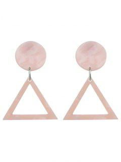 Alloy Geometric Hollow Out Stud Earrings - Pink