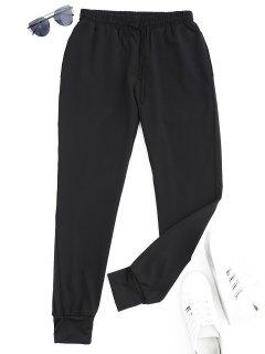 Pantalones Deportivos Deportivos Con Cordón - Negro L