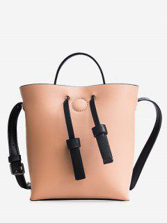 Bucket Crossbody Bag And Zip Clutch Bag - Pink