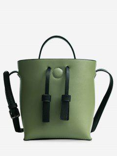 Bucket Crossbody Bag And Zip Clutch Bag - Green