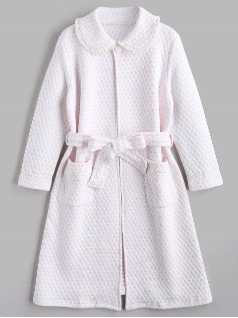 Vestido de noche con textura de Flocking Heart Night Robe - Rosa Luz M Mobile