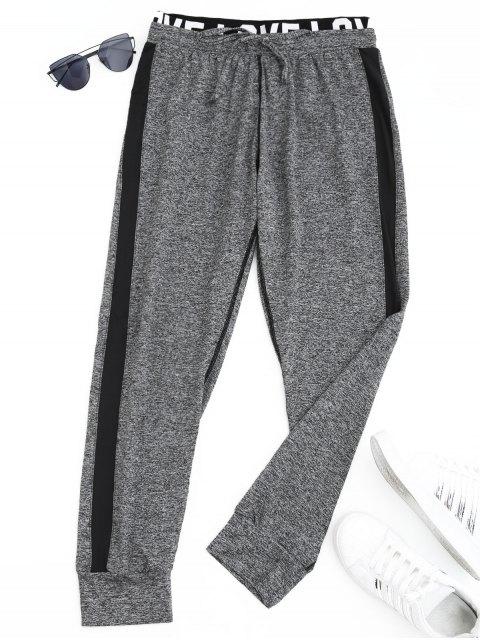 Pantalones deportivos Heathered Letter Jogger - Gris L Mobile