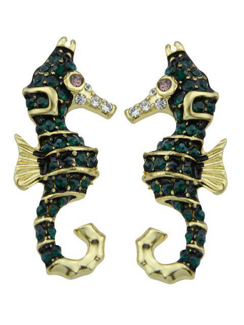 lady Sea Horse Shape Stud Earrings -   Mobile