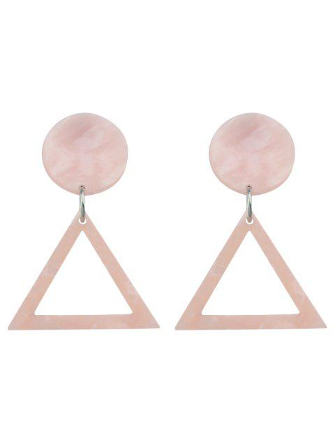 new Alloy Geometric Hollow Out Stud Earrings - PINK  Mobile