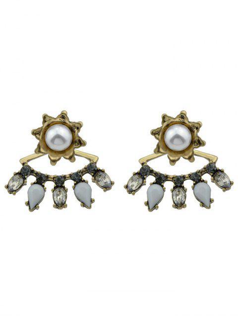hot Flory Faux Pearl Waterdrop Earrings - GOLDEN  Mobile
