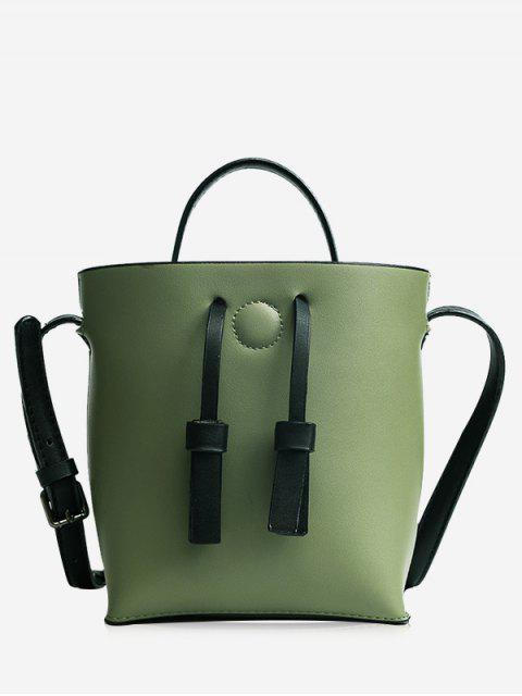 chic Bucket Crossbody Bag and Zip Clutch Bag - GREEN  Mobile