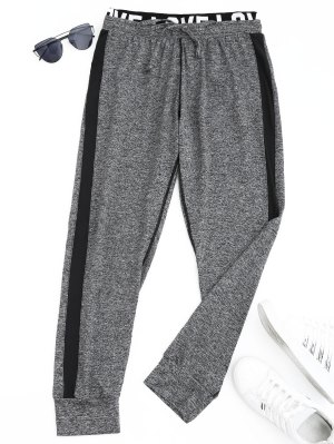 Sports Heathered Letter Jogger Pants